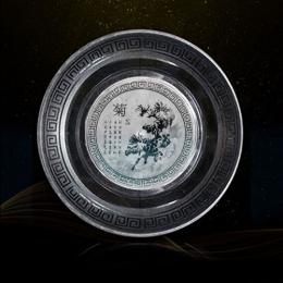 一次性水晶餐具套装梅兰竹菊系列
