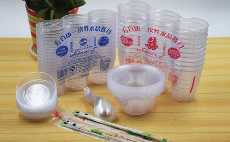寿百康一次性水晶餐具,健康环保加盟优选